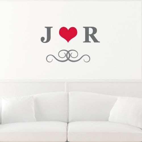 Personalised Monogram Wall Decal Art
